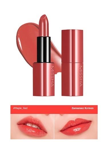 Missha Yoğun Pigmentli Besleyici Nemli Bitişli Ruj  Dare Rouge Sheer Sleek (08 Maple Red) Renksiz